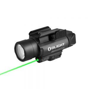 Světlo na zbraň Olight BALDR Pro 1350 lm – zelený laser