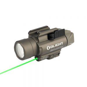 Světlo na zbraň Olight BALDR Pro 1350 lm – Desert zelený laser