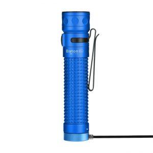 LED svítilna Olight Baton Pro 2000 lm modrá – Limitovaná edice