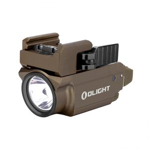 Světlo na zbraň Olight Baldr Desert Mini 600 lm – zelený laser