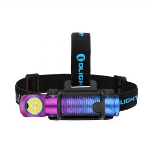 Dobíjecí LED čelovka Olight Perun 2 Kit Purple gradient 2500 lm – limitovaná edice