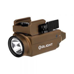 Světlo na zbraň Olight Baldr S 800 lm Desert Tan – zelený laser