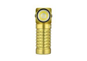 Dobíjecí LED čelovka Olight Perun mini KIT 1000 lm limitovaná edice – žlutá